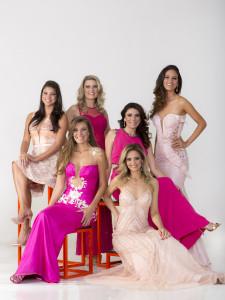 Da esquerda para direita: Jakelyne Oliveira - Miss Brasil 2013 Andreia Reis - Miss Brasil 1985 / Ana Elisa Flores - Miss Brasil 1984 / Drielly Benettonne - Miss São Paulo 2013 Berla Chacon - Miss Paraiba 1992 / Priscila Furlan - Miss Brasil 1992 /